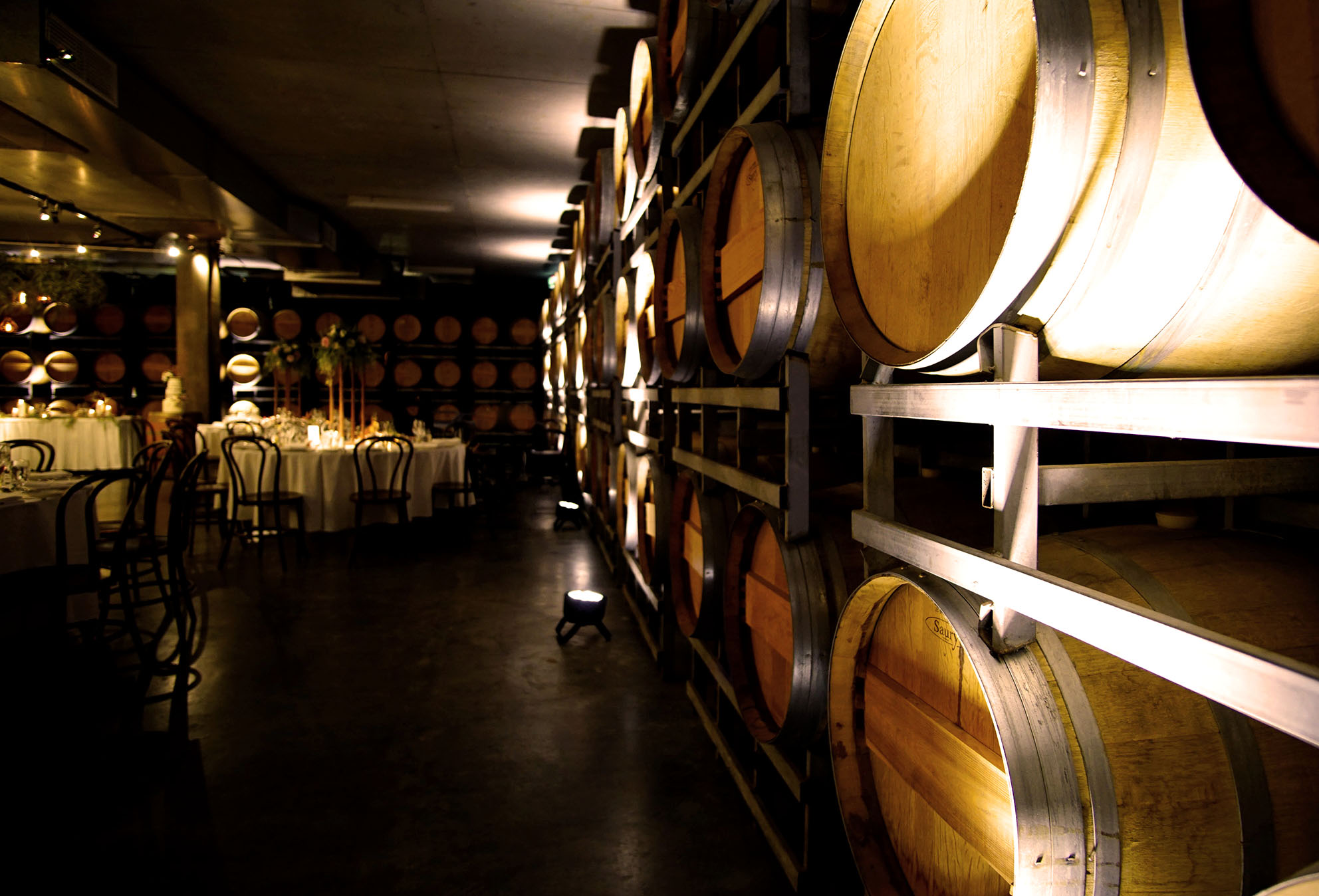 Sandalford Winery Barrel Wall Up-lighting